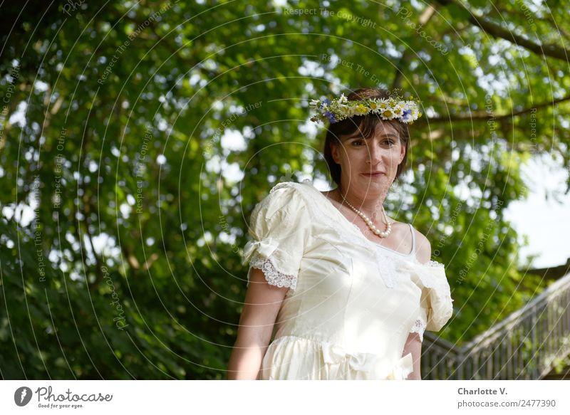 Erwartungshaltung - UT Dresden Woman Human being Tree Adults Feminine Wait Observe 30 - 45 years