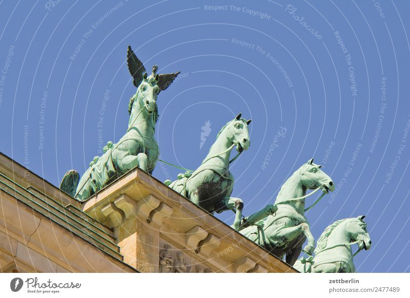 spock horse Brandenburg Gate Quadriga Carriage and four Architecture Berlin Germany Capital city langhans Seat of government Spreebogen Column Landmark