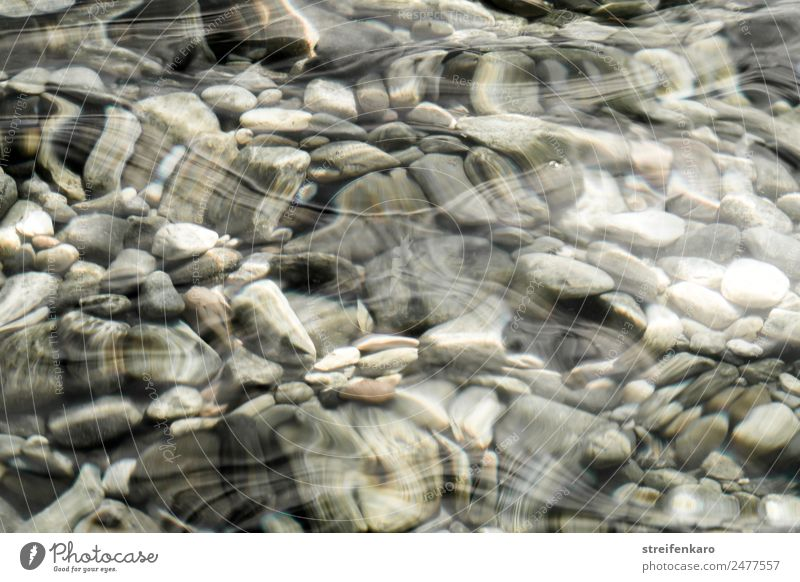 Stony under the surface. Harmonious Relaxation Calm Meditation Waves Environment Nature Elements Water Coast Lakeside River bank Brook Stone Movement Esthetic