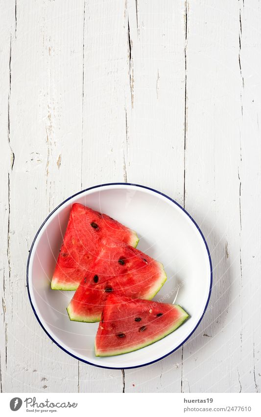 Watermelon yummy fresh summer fruit Food Vegetable Fruit Breakfast Diet Juice Plate Healthy Healthy Eating Summer Fresh Delicious Sour Red White Water melon