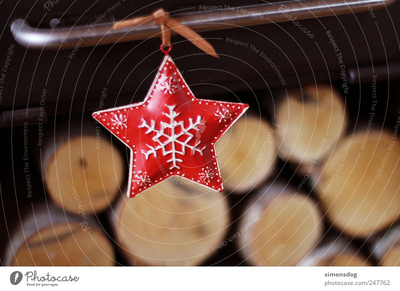 star Feasts & Celebrations Hang Living or residing Dark Happiness Moody Happy Anticipation Star (Symbol) Christmas star Illuminate Snowflake Wood birch