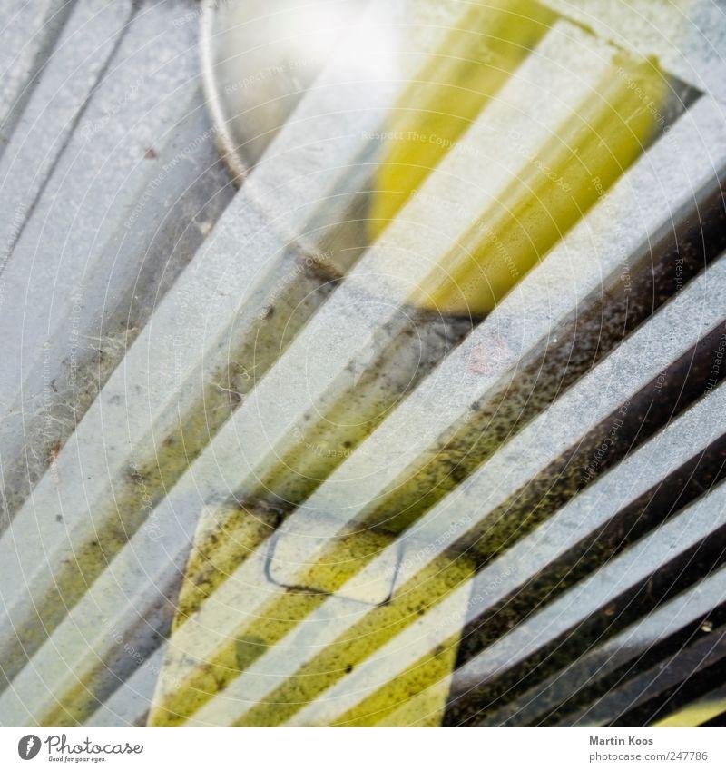 Yellow Graffiti Metal Line Door Power Design Esthetic Perspective Change Sign Creativity Chaos Lock Grating Surrealism