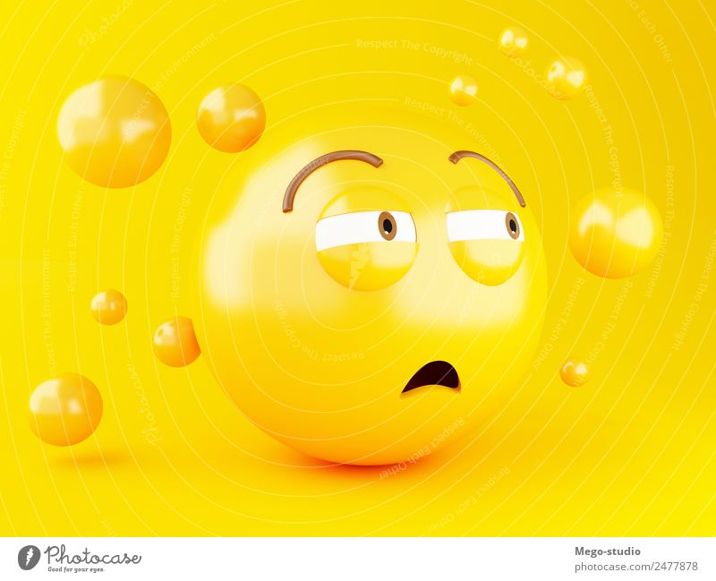 3d Emoji. Social media concept. Joy Face Yellow Funny Emotions Laughter Happy Friendship Design Glittering Smiling Happiness Mouth Cute Illustration