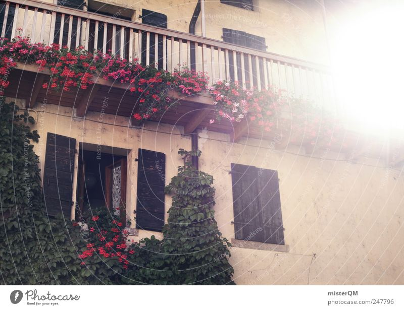 Old Vacation & Travel Sun Flower House (Residential Structure) Window Facade Idyll Kitsch Village Balcony Hut Bavaria Home country Tradition Floodlight