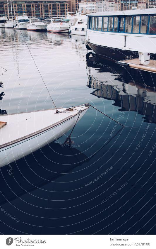 bateau au Vieux Port Sailing Town Port City Esthetic Marseille Southern France Mediterranean sea Le vieux port Blue Water Calm Ferry Watercraft Navigation