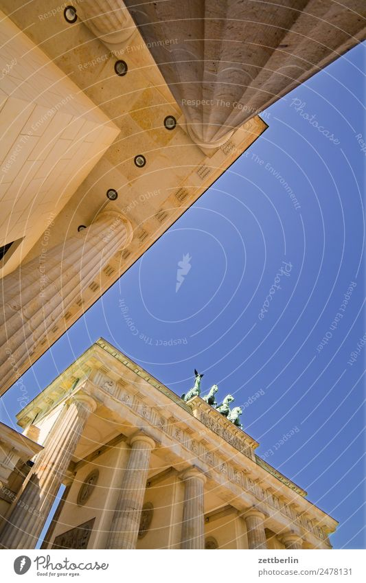 Sky Heaven Summer Architecture Berlin Tourism Germany Landmark City trip Capital city Column Seat of government Quadriga Carriage and four Spreebogen