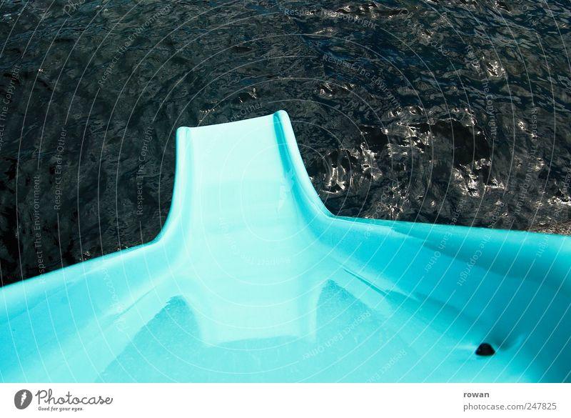 Water Blue Joy Summer Vacation & Travel Ocean Lake Swimming & Bathing Lakeside Anticipation Summer vacation Slide Skid Water slide