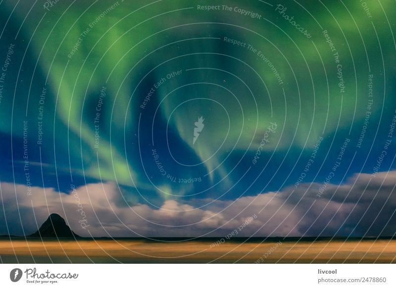 northern lights III, norway Relaxation Vacation & Travel Beach Ocean Island Winter Nature Landscape Air Sky Clouds Night sky Climate Snowfall Aurora Borealis