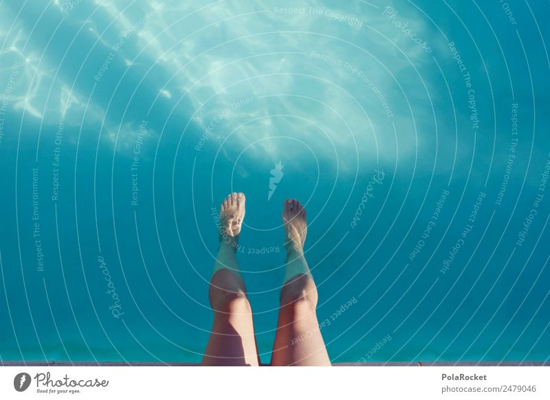 #A# Soul dangle 1 Human being Esthetic Sit Swimming pool Relaxation Recreation area Summer Summer vacation Summery Warmth heat-free Summer's day Refrigeration
