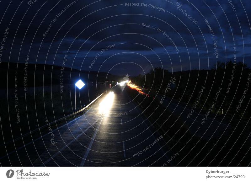 Aral BAB Seesen at night 1 Highway Night Long exposure Blue Transport aral