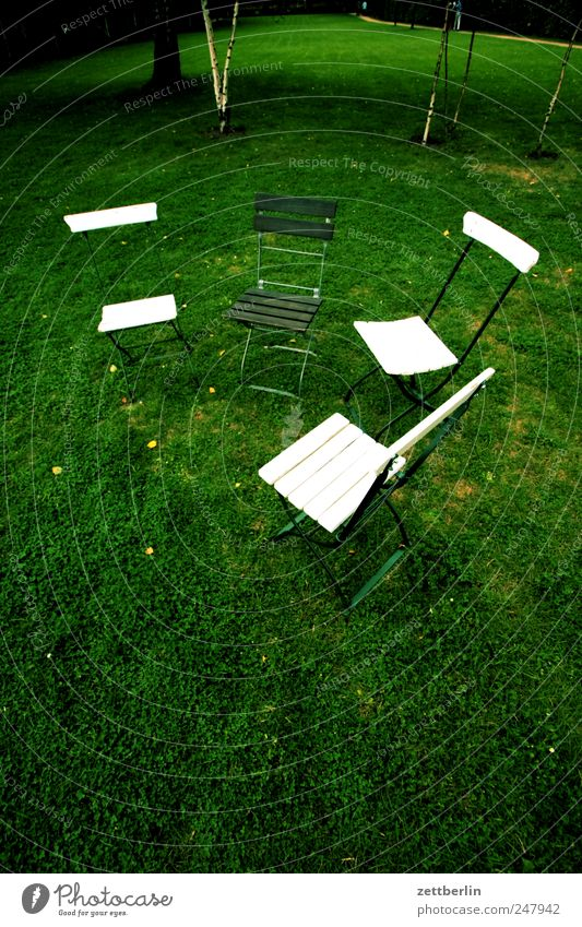 Relaxation Meadow Grass Exceptional Sit Free Multiple Empty Chair Furniture Meeting Seating Teamwork Difference Agree