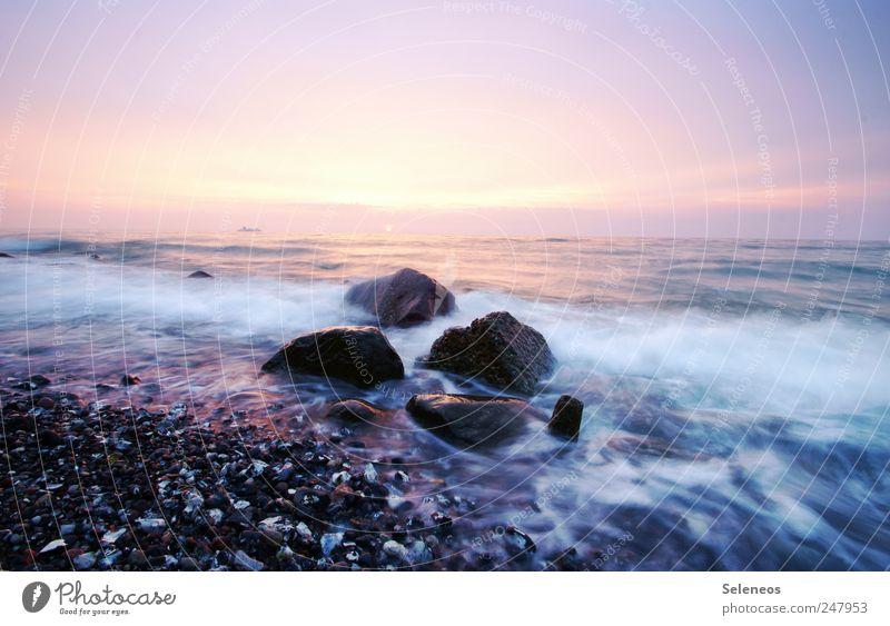 Sky Nature Water Vacation & Travel Summer Ocean Far-off places Environment Freedom Landscape Coast Stone Waves Horizon Trip Illuminate