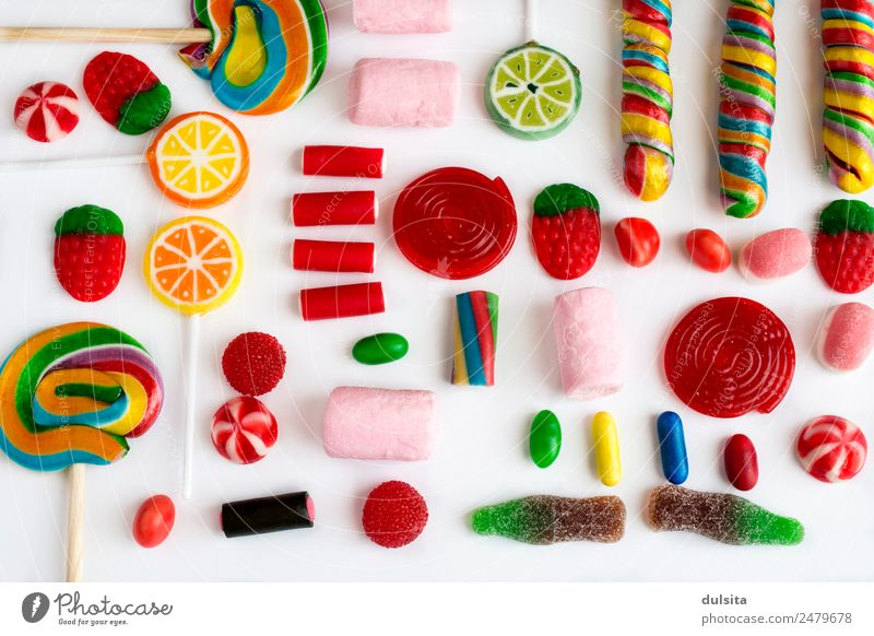 Colorful lollipops and candies Food Dessert Candy Chocolate Jam Nutrition Picnic Diet Fast food Feeding Multicoloured sweet sugar colorful snack christmas