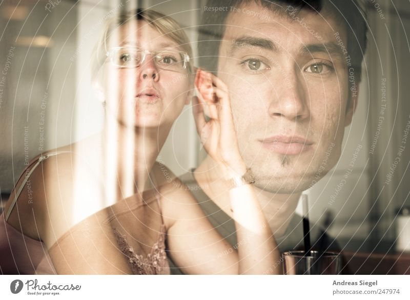 Human being Youth (Young adults) Face Life Feminine Blonde Masculine Eyeglasses Exceptional Curiosity Meditative Facial hair Brunette Double exposure Interest