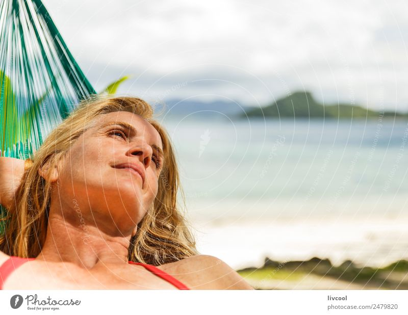 in the hammock Woman Human being Nature Vacation & Travel Landscape Sun Ocean Relaxation Loneliness Calm Beach Mountain Adults Lifestyle Coast Feminine