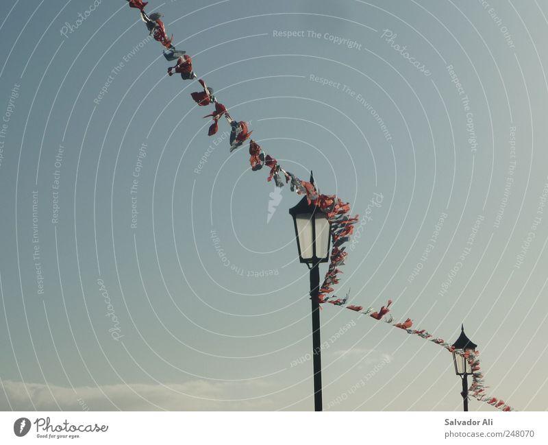 Sky Blue Beautiful Air Wind Flag Village Spain Beautiful weather Street lighting Blow Rip Versatile Judder Canaries La Palma