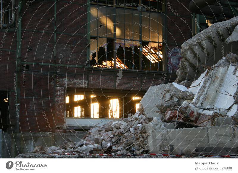 Phoenix Dortmund Factory hall Building rubble Construction site Sunset Light Industry Hoesch Warehouse