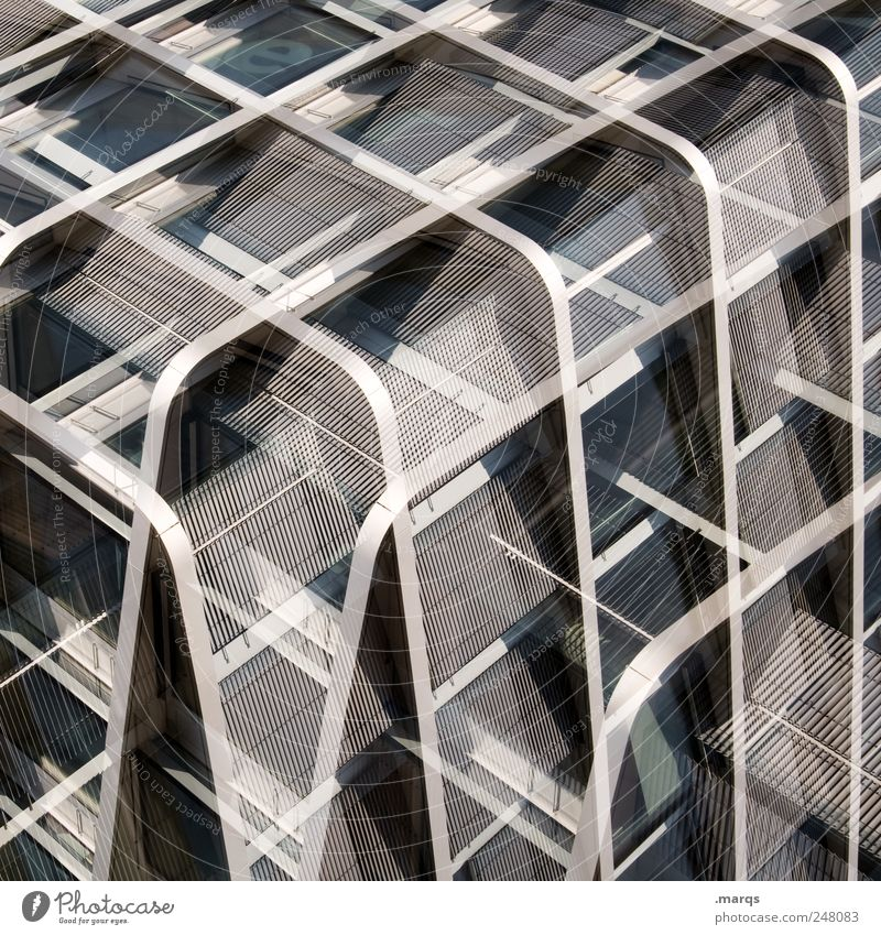 Style Metal Line Elegant Facade Design Crazy Perspective Modern Future Stripe Uniqueness Exceptional Illustration Double exposure