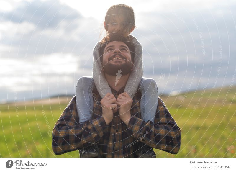 Father and daughter Playing Child Man Adults Parents Family & Relations Infancy 2 Human being 3 - 8 years 30 - 45 years Flower Meadow Embrace Arabia Daughter
