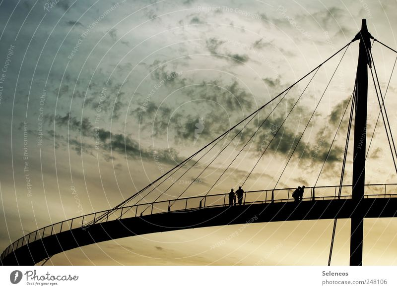 sometimes you have to build bridges Tourism Trip Sightseeing Summer Human being 4 Environment Sky only Clouds Horizon Beautiful weather Bridge Architecture