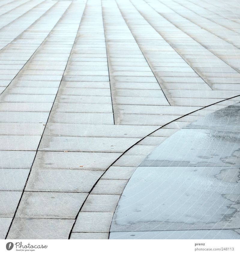 Architecture Gray Stone Line Perspective Places Middle Downtown Downtown Berlin Alexanderplatz Paving tiles Structures and shapes