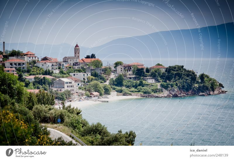 Gradac, on the coast of Croatia. Vacation & Travel Tourism Trip Summer Summer vacation Water Coast Bay Ocean Europe Village Fishing village Small Town Port City
