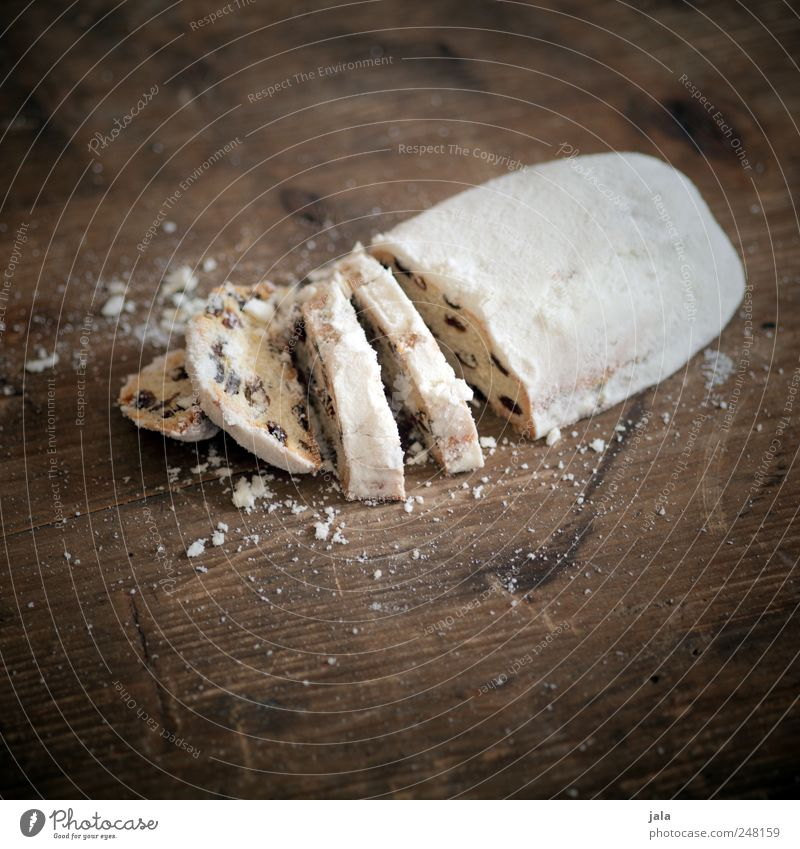 Christmas & Advent White Nutrition Food Brown Gold Cake Delicious Candy To have a coffee Stollen
