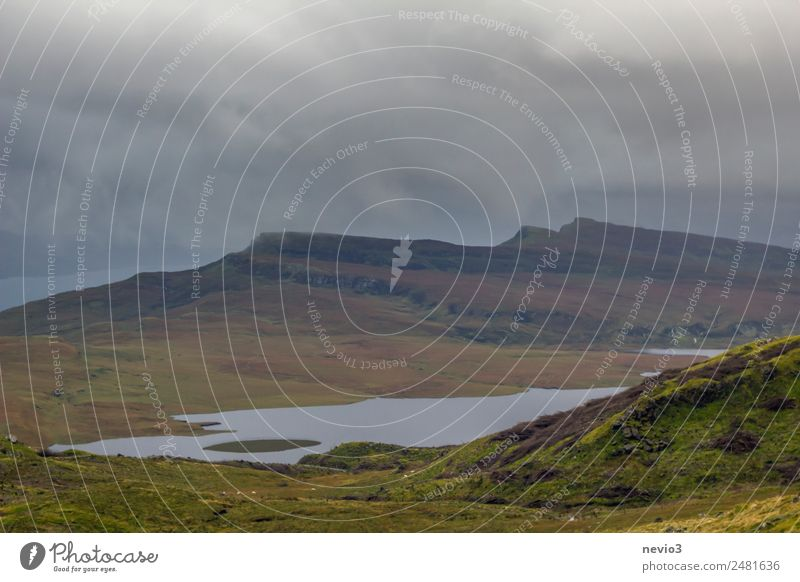 Scottish Highlands Environment Landscape Climate Bad weather Grass Meadow Hill Mountain Green Land Feature Nature Nature reserve Weather Rain Lake Lakeside