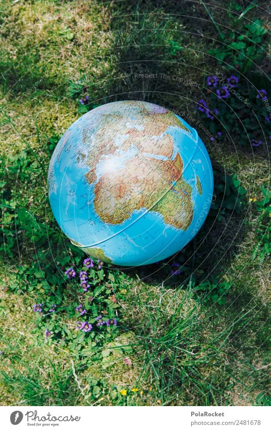 #A# globe Art Work of art Esthetic Earth Globe Global Globalization Anti-globalization activist Universe Continents Protection Environmental protection Nature