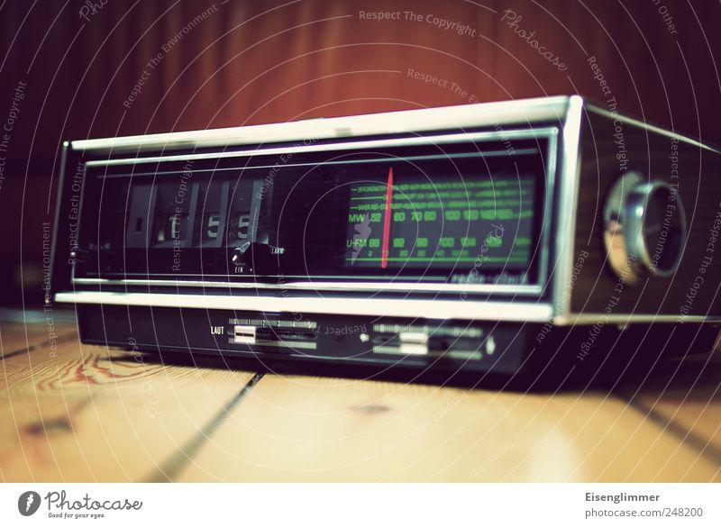 folding number alarm clock Alarm clock folding alarm clock radio alarm Radio (device) Old Original Green Esthetic Nostalgia Whimsical wake-up time Seventies