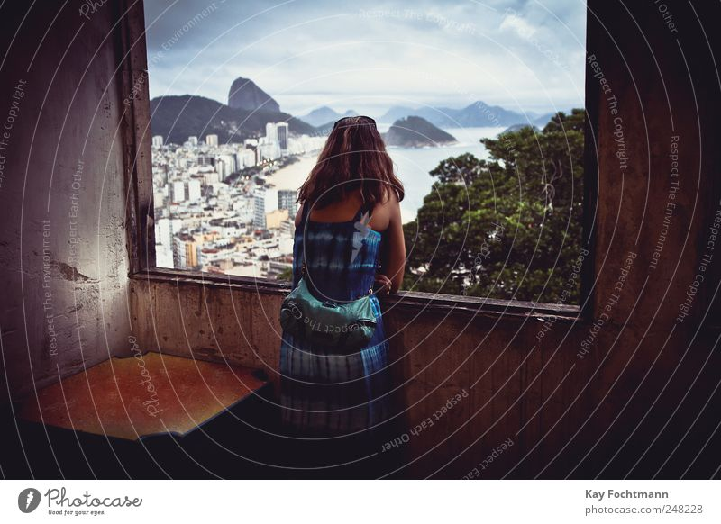 saudades Lifestyle Well-being Contentment Relaxation Calm Vacation & Travel Tourism Far-off places City trip Summer Summer vacation Ocean Feminine Woman Adults
