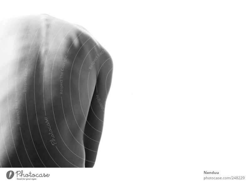 Human being Naked Back Thin Strange Warped Spinal column Curvature of the spine