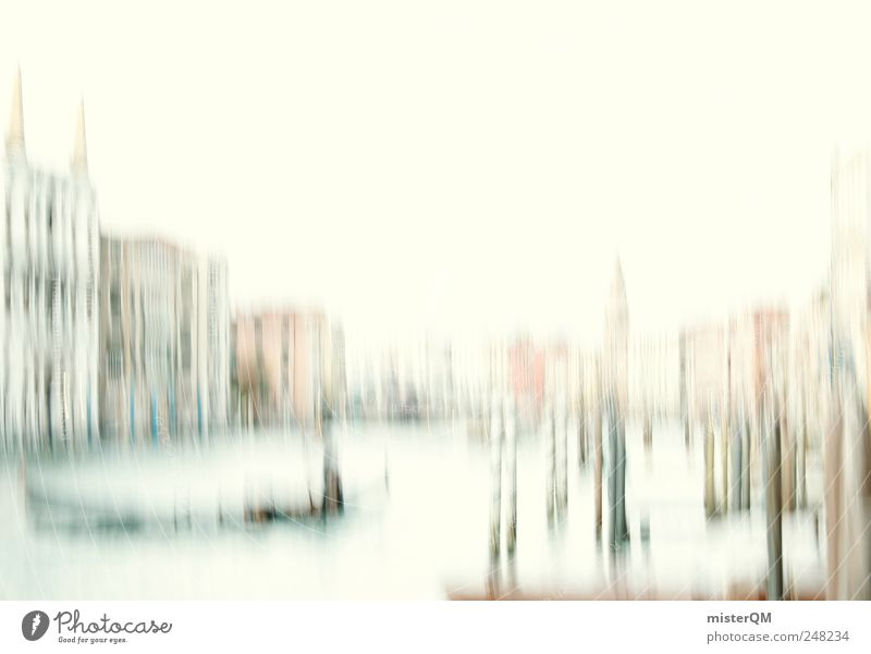 canal grande. Art Work of art Painting and drawing (object) Esthetic Elegant Venice Italy Vacation & Travel Vacation destination Tourist Attraction Canal Grande