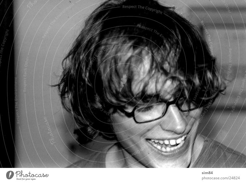 Man Laughter Hair and hairstyles Teeth Eyeglasses