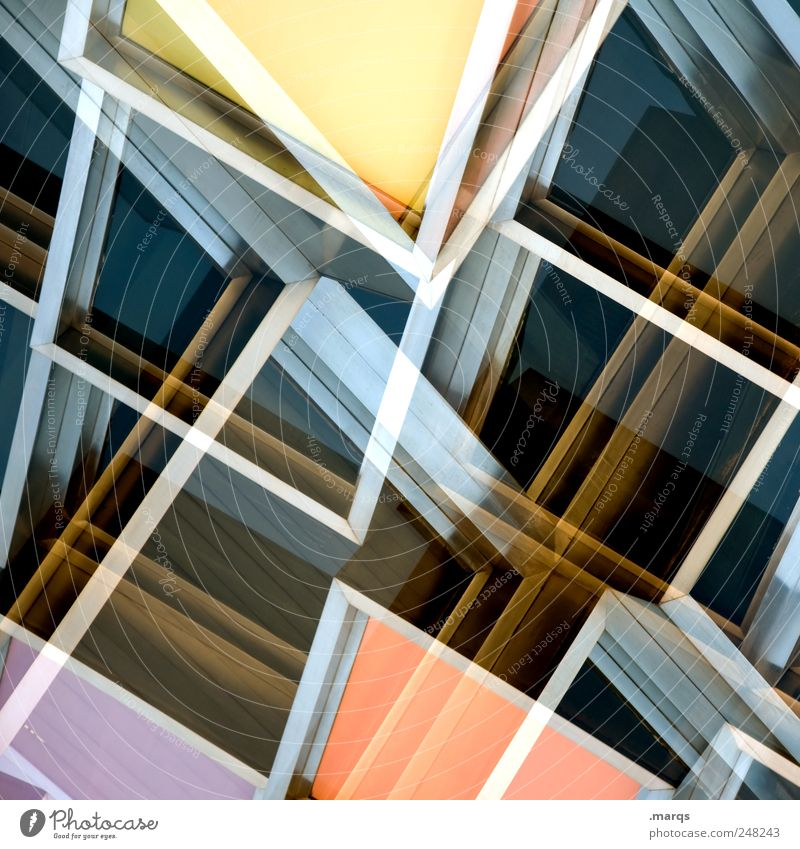 Window Style Line Elegant Facade Design Crazy Modern Perspective Future Cool (slang) Uniqueness Double exposure Chaos Hip & trendy