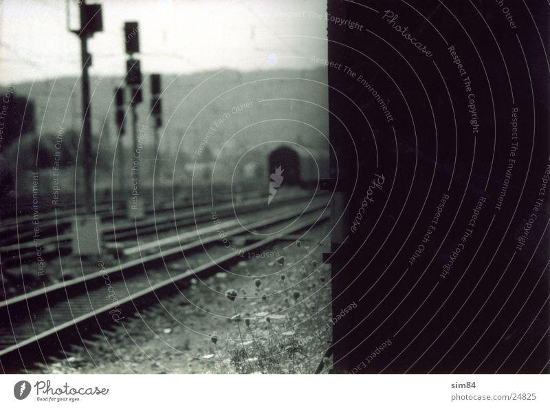 Transport Railroad Railroad tracks