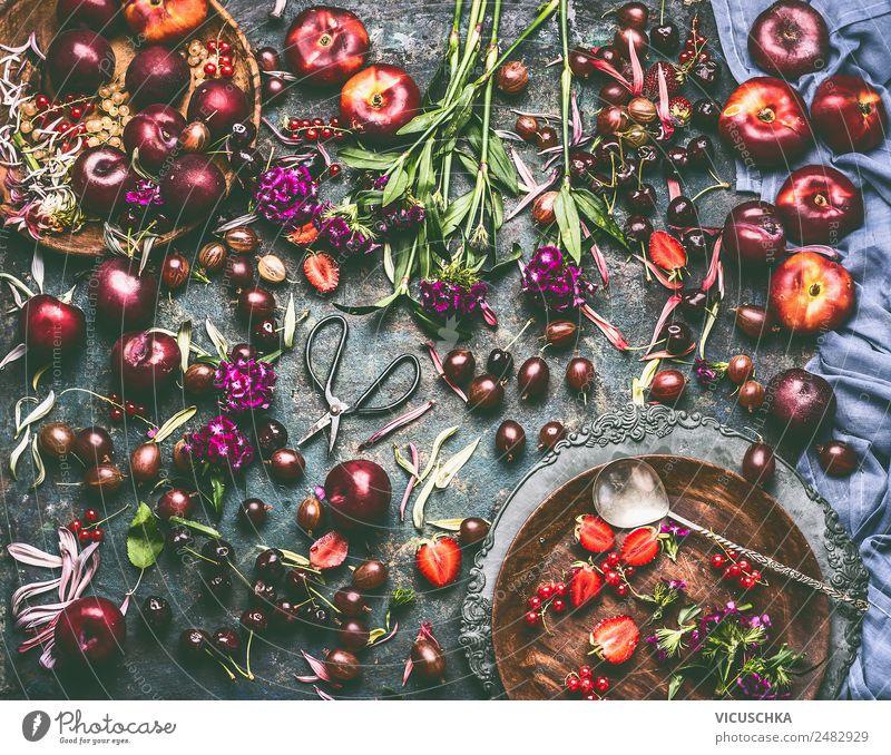 Healthy Eating Summer Flower Food Style Living or residing Design Fruit Nutrition Table Hip & trendy Apple Organic produce Crockery Still Life