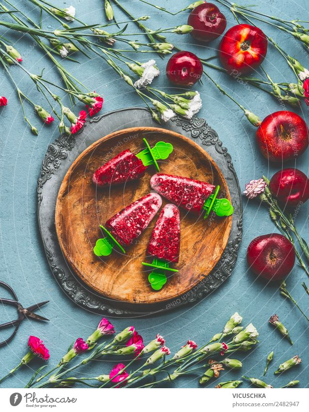 Healthy Eating Summer Food photograph Style Pink Fruit Living or residing Design Nutrition Table Ice cream Organic produce Crockery Still Life Juice