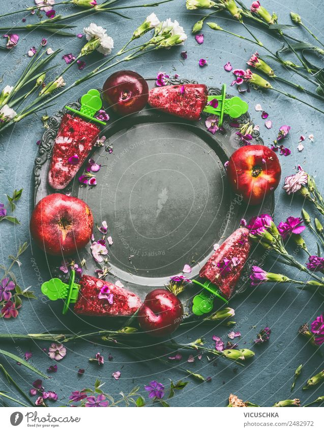Summer Healthy Eating Flower Food photograph Background picture Style Living or residing Design Fruit Nutrition Table Ice cream Organic produce Still Life