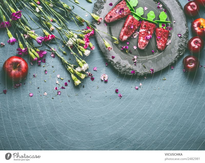 Healthy Eating Summer Food photograph Flower Background picture Style Fruit Design Nutrition Table Ice cream Organic produce Vegetarian diet Diet