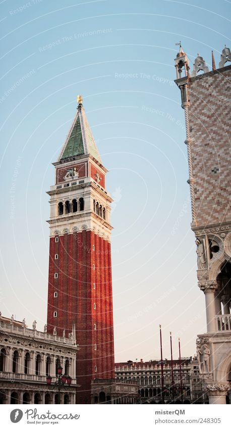 Red Vacation & Travel Architecture Art Tall Tower Italy Carnival Luxury Brick Vantage point Past Vertical Tourist Attraction Ancient