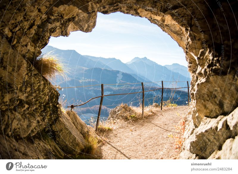 Made it through the tunnel Nature Beautiful Landscape Mountain Natural Grass Stone Hiking Dream Modern Happiness Curiosity Hope Alps Positive
