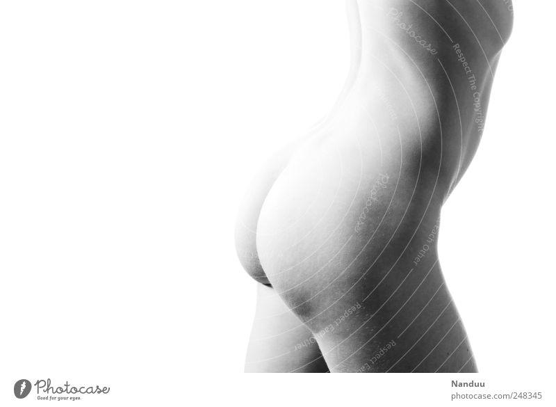 Human being Eroticism Feminine Naked Body Round Bottom Thin Orange peel Naked flesh