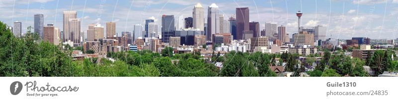 Calgary Panormama Canada Alberta Jasper Banff National Park High-rise North America rocky mountains Skyline Town