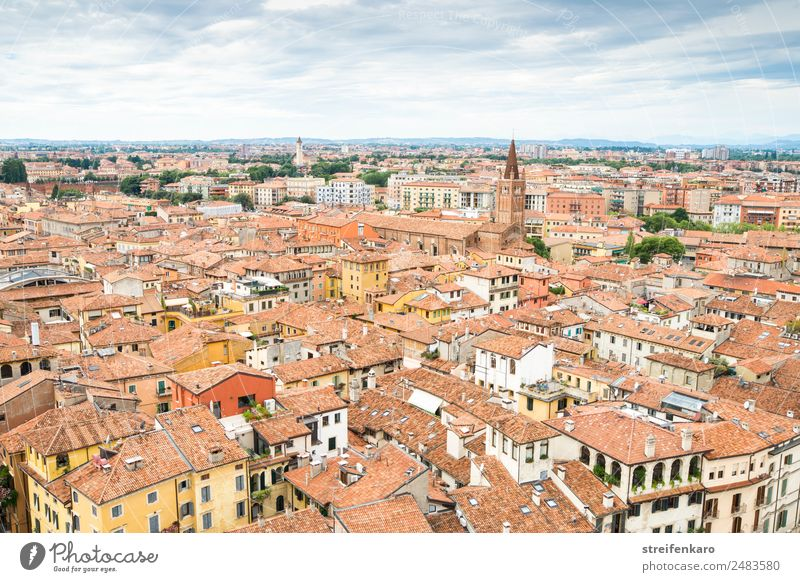 Roofs of the old town of Verona, Italy Vacation & Travel Tourism Sightseeing City trip Summer House (Residential Structure) Architecture Mountain Lake