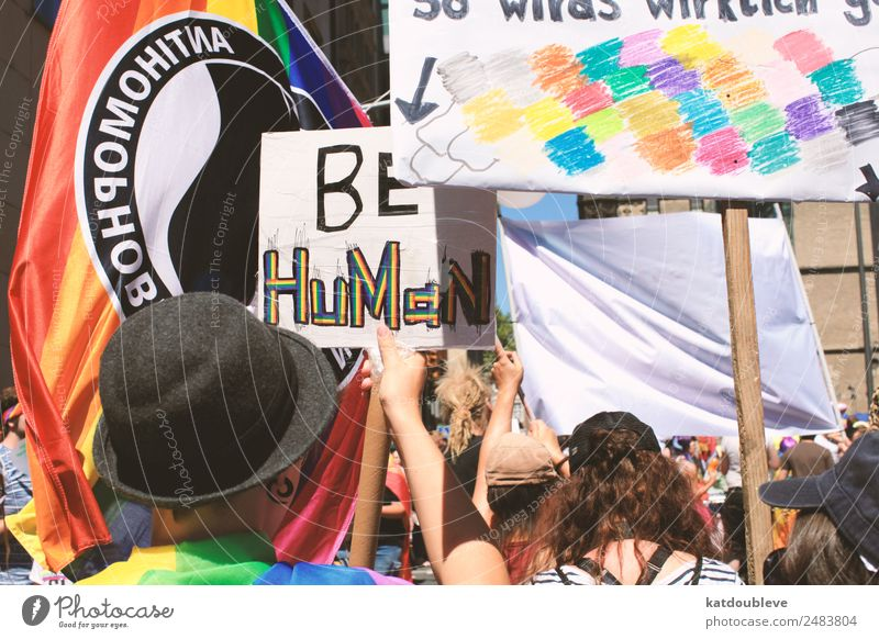 be human Androgynous Homosexual Crowd of people Movement Communicate Honor Optimism Willpower Brave Determination Humanity Responsibility Tolerant Fairness Hope