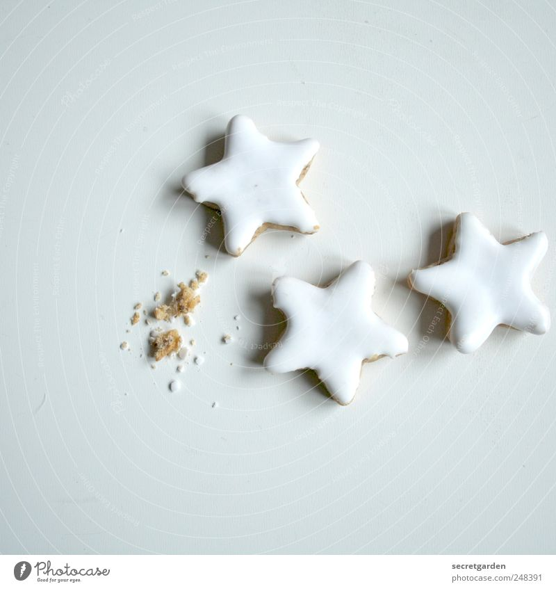 Christmas & Advent White Food Brown Bright Nutrition Star (Symbol) Past Delicious Candy Appetite Cake Baked goods Dough Cookie
