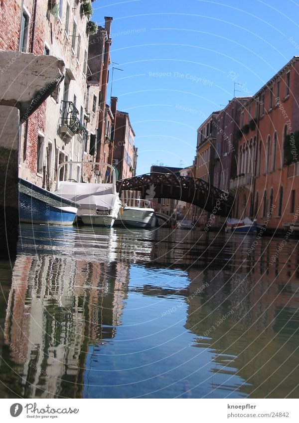 side street Venice Reflection House (Residential Structure) Waterway Europe Blue