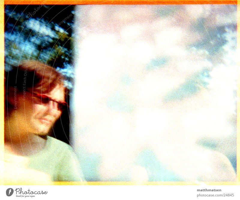 summer Sunglasses Summer Blur Double exposure Edge Tree Light Woman Modern Frame Bright