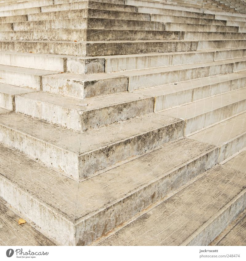 Architecture Lanes & trails Gray Exceptional Line Arrangement Stairs Dirty Modern Perspective Large Esthetic Corner Concrete Beginning Stripe